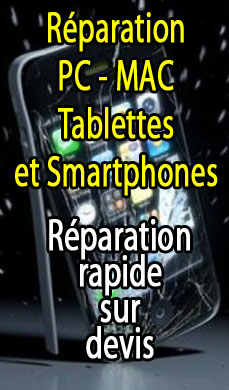 Réparation de votre tablette, ordinateur ou smartphone